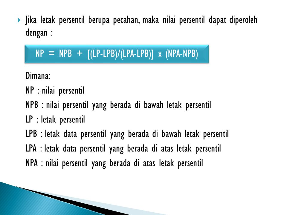 NP = NPB + [(LP-LPB)/(LPA-LPB)] x (NPA-NPB)